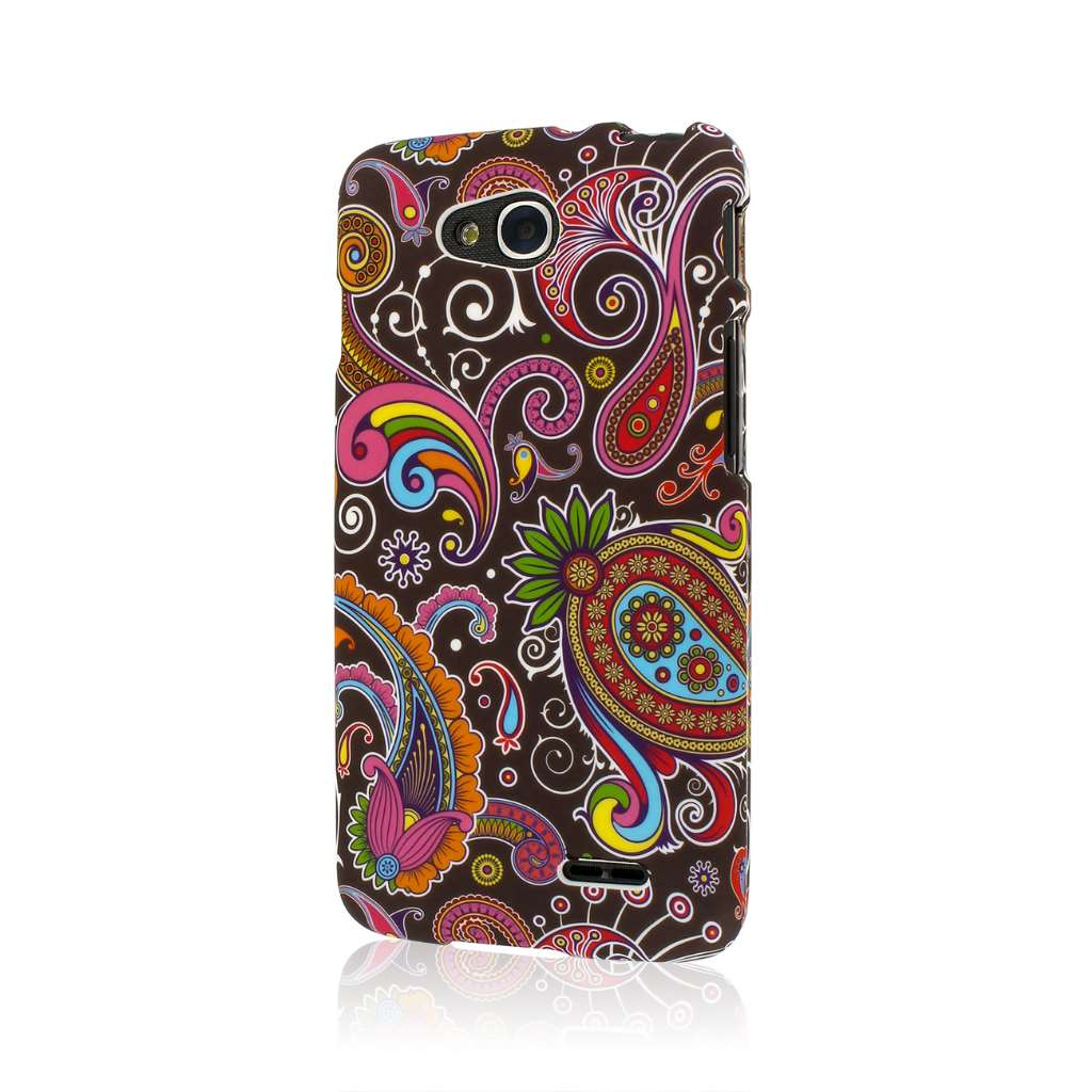 LG Optimus L90 - Black Paisley MPERO SNAPZ - Case Cover