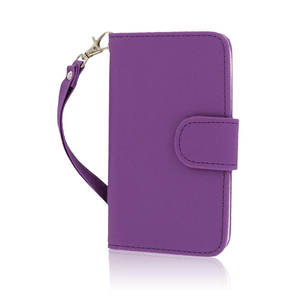 Nokia Lumia 530 - Purple MPERO FLEX FLIP Wallet Case Cover