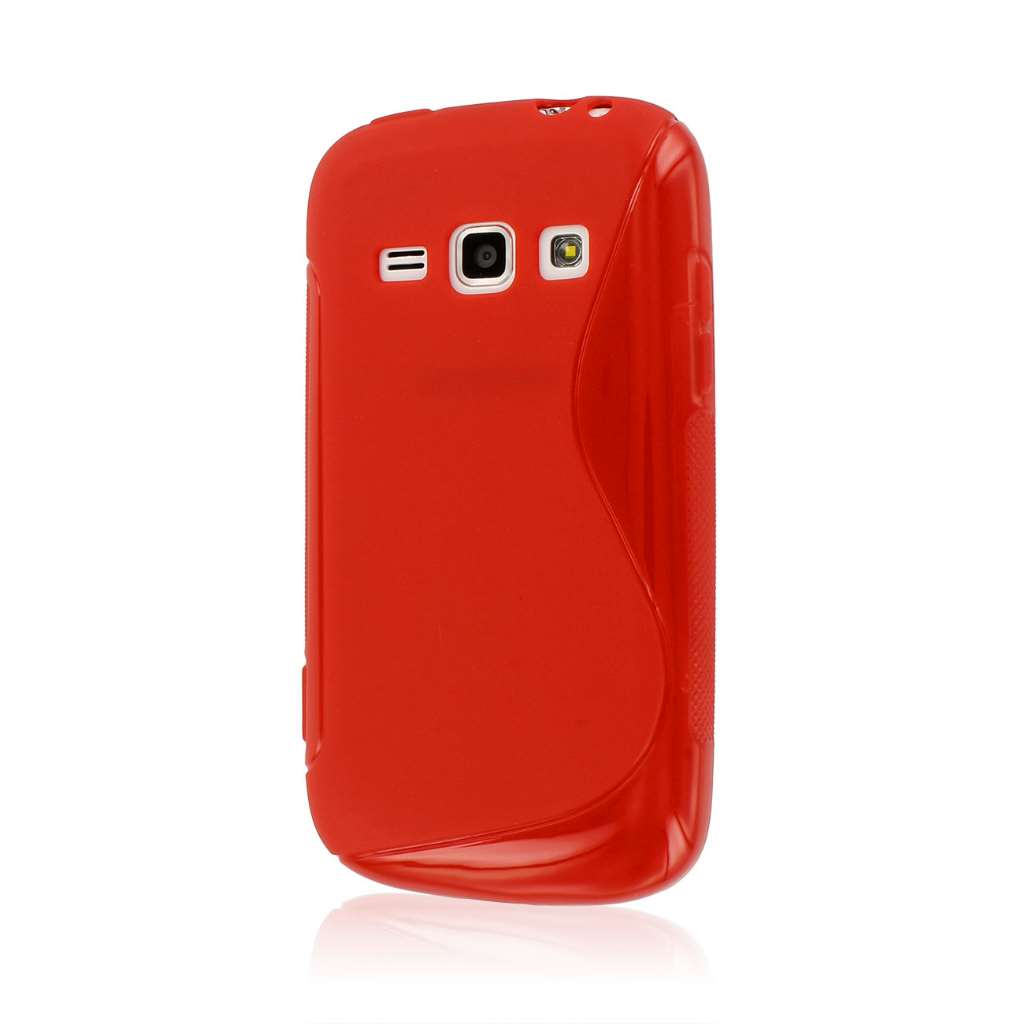 Samsung Galaxy Prevail 2 - Red MPERO FLEX S - Protective Case Cover