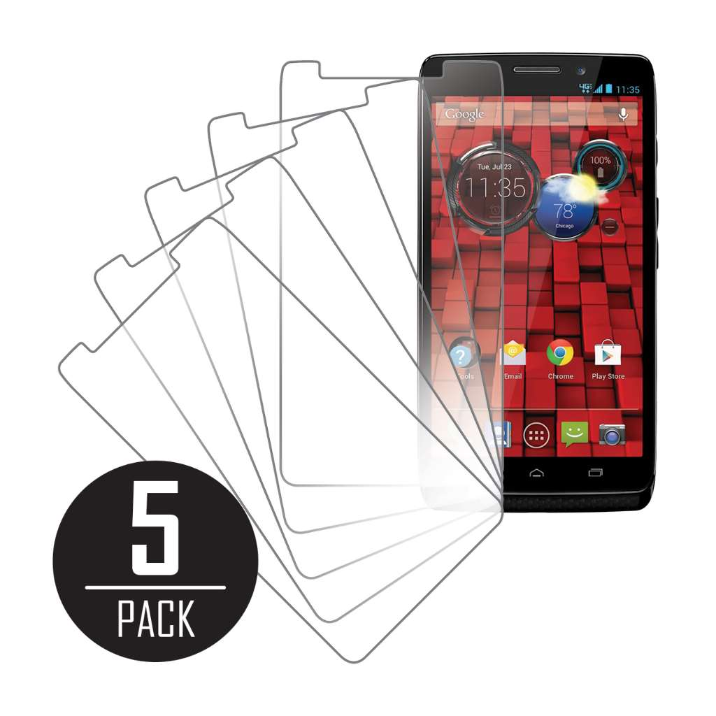 Motorola DROID MAXX/ Ultra MPERO 5 Pack of Clear Screen Protectors