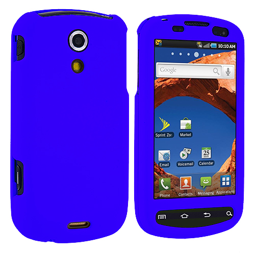 Samsung Epic 4G Blue Hard Rubberized Case Cover
