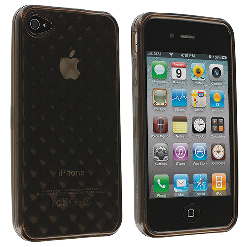 Apple iPhone 4 / 4S Smoke Handwoven TPU Rubber Skin Case Cover
