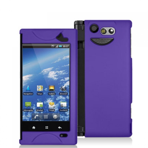Kyocera Echo M9300 Purple Hard Rubberized Case Cover