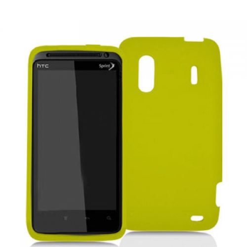 HTC EVO Design 4G Yellow Silicone Soft Skin Case Cover