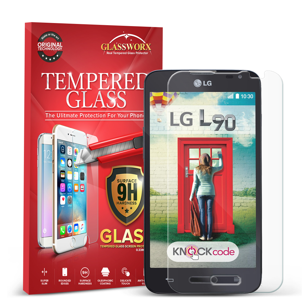 LG Optimus L90 GlassWorX HD Clear Tempered Glass Screen Protector
