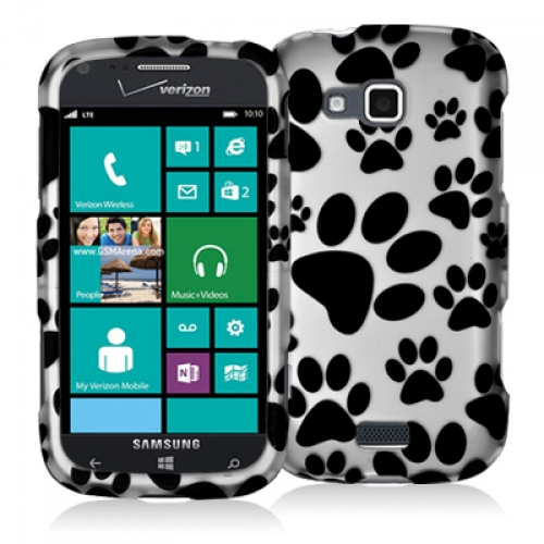 Samsung ATIV Odyssey Dog Paw Hard Rubberized Design Case Cover