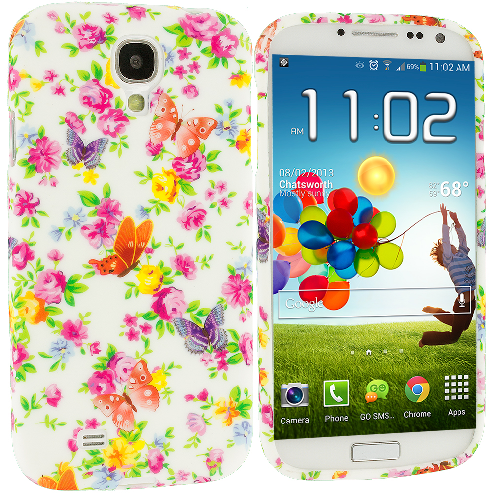 Samsung Galaxy S4 Colorful Flower TPU Design Soft Case Cover