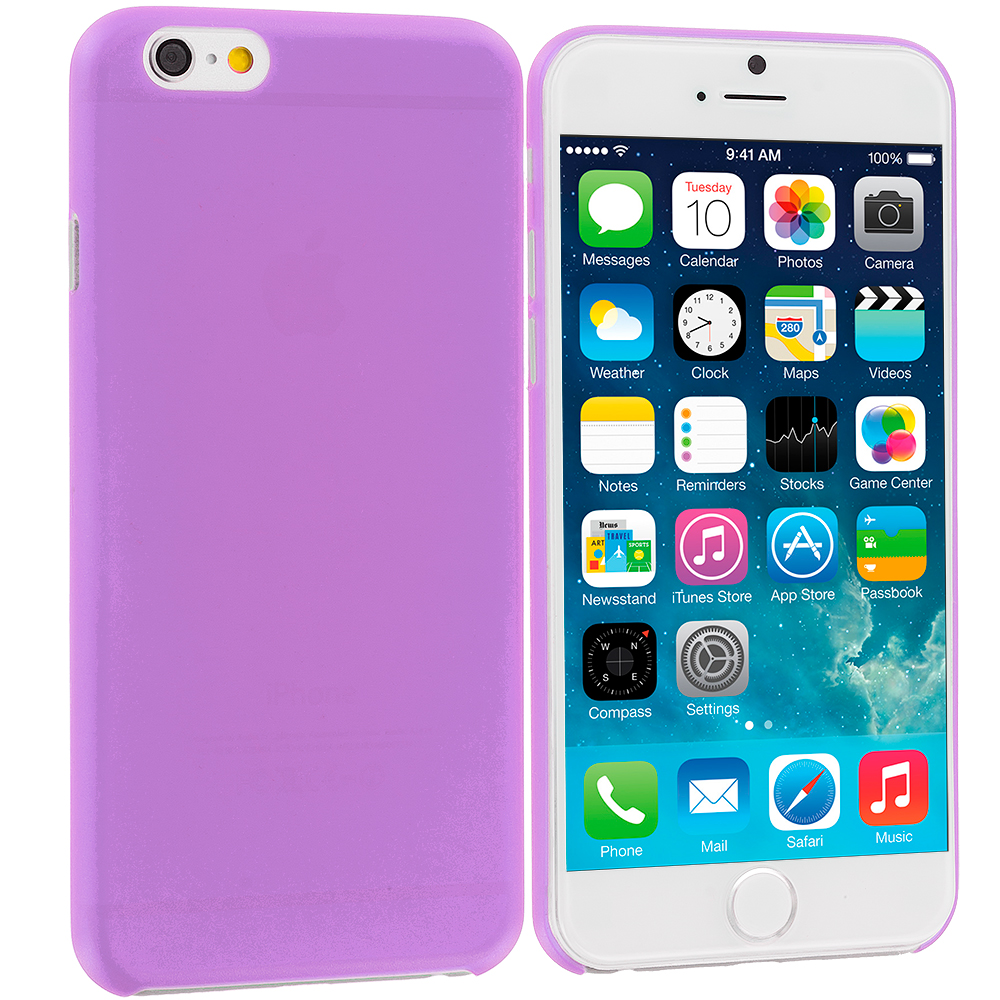 Apple iPhone 6 6S (4.7) Purple 0.3mm Super Ultra Thin Back Case Cover