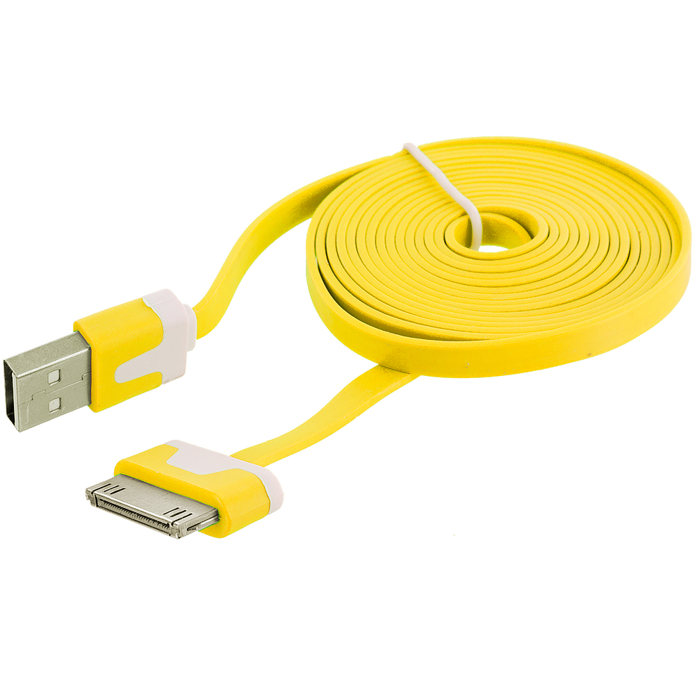6 ft noodle flat usb sync data cable cord 6ft for iphone 4. Black Bedroom Furniture Sets. Home Design Ideas