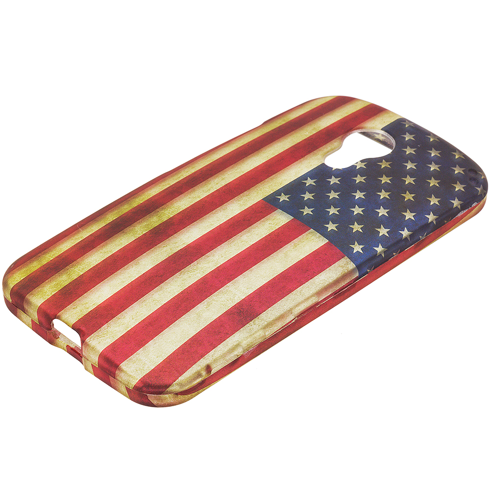 Motorola Moto G 2nd Gen 2014 USA Flag 2D Hard Rubberized Design Case Cover