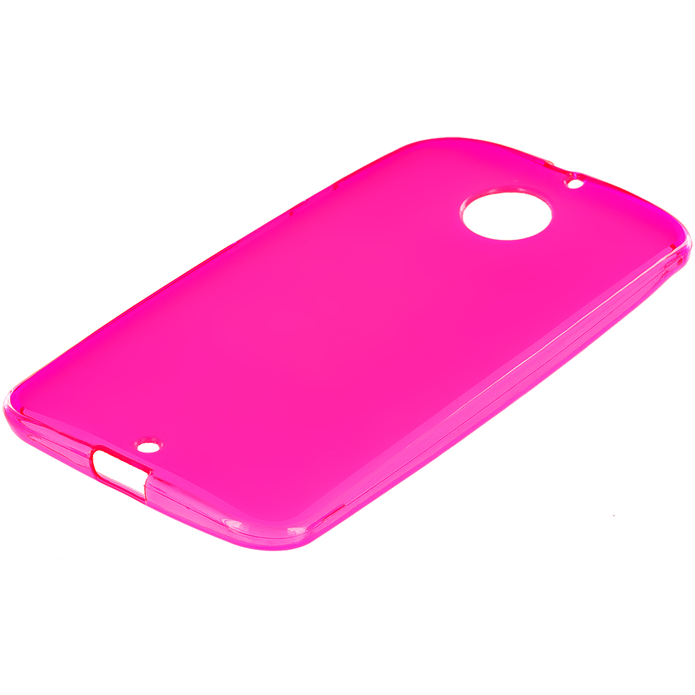 Motorola Moto X 2nd Gen Hot Pink TPU Rubber Skin Case Cover