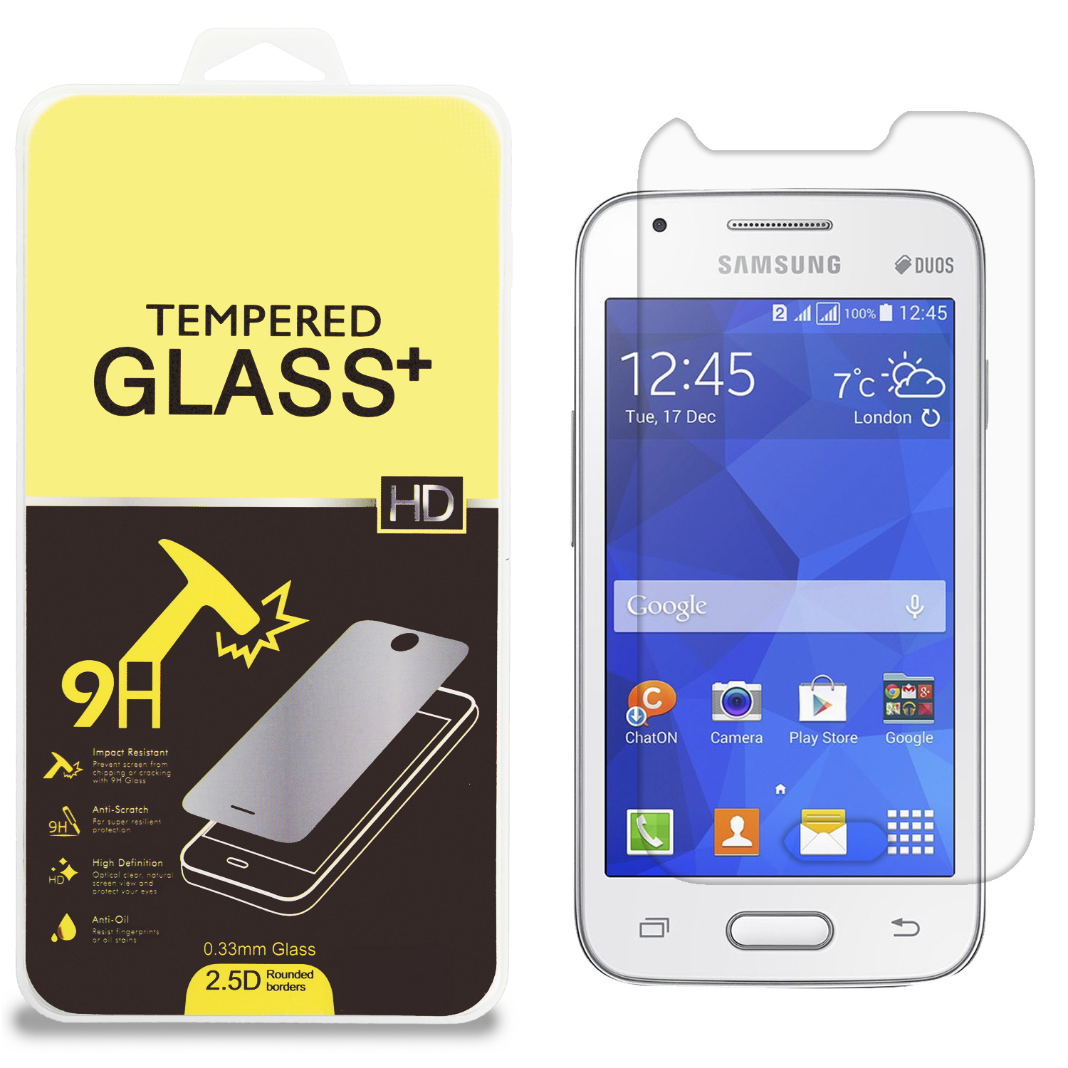 Samsung Galaxy Ace 4 Clear Tempered Glass High Quality 0.33mm LCD Screen Protector