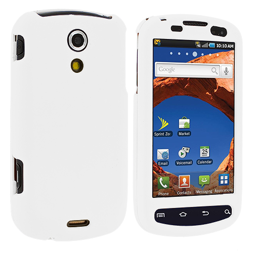 Samsung Epic 4G White Hard Rubberized Case Cover