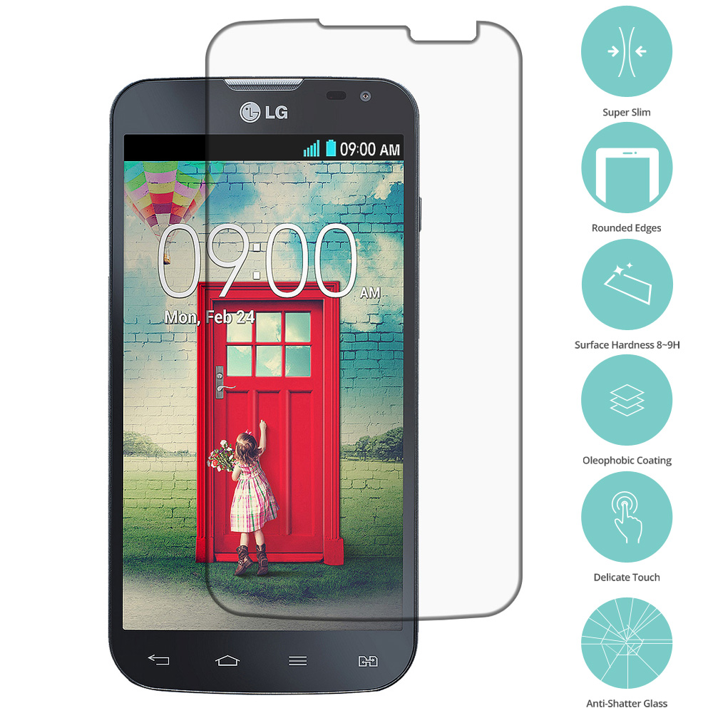LG Optimus L90 Clear Tempered Glass Film Screen Protector Clear