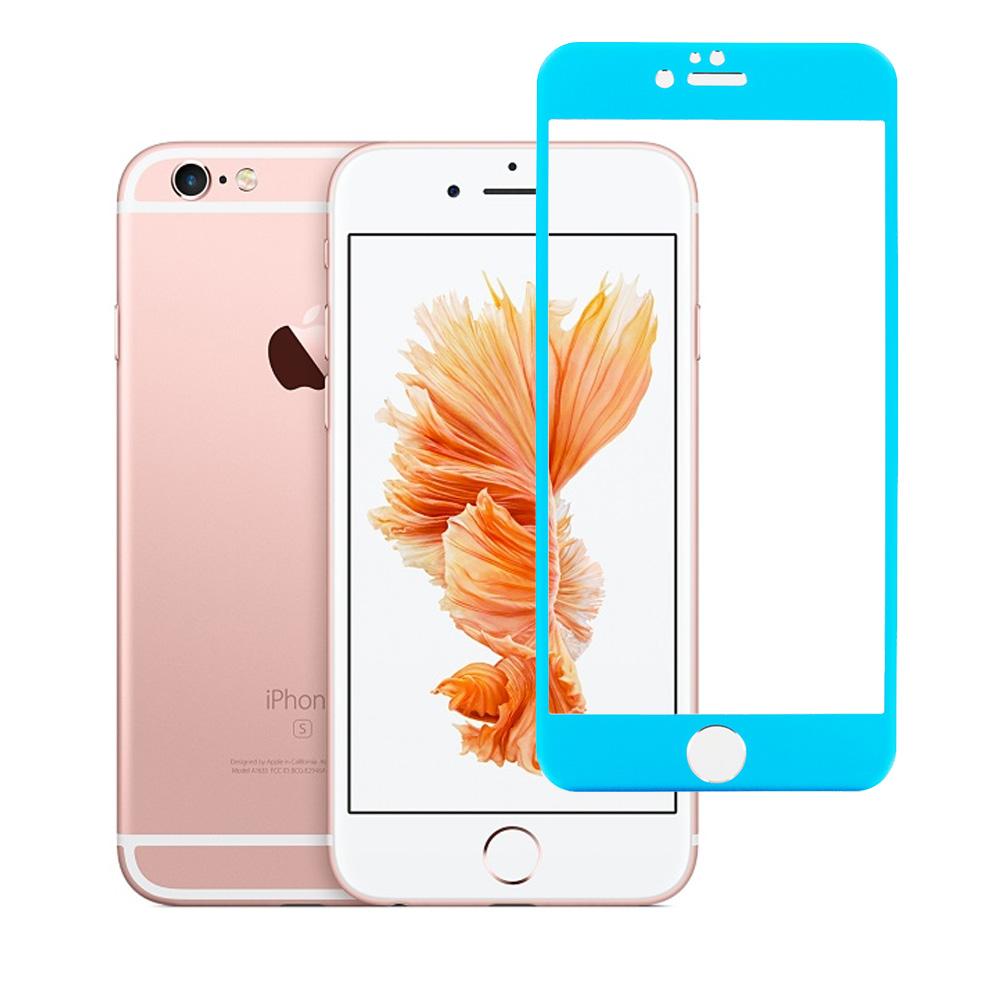 Apple iPhone 6 Plus 6S Plus (5.5) Blue Titanium Tempered Glass Hard Premium Screen Protector