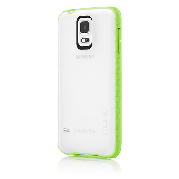 Samsung Galaxy S5 - Frost/Neon Green Incipio Octane Case Cover