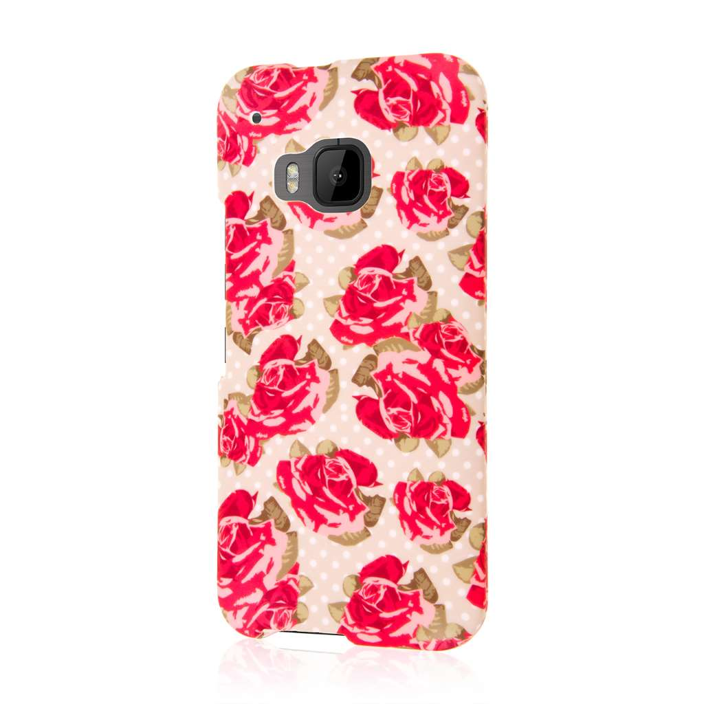 HTC One M9 - Vintage Red Roses MPERO SNAPZ - Case Cover