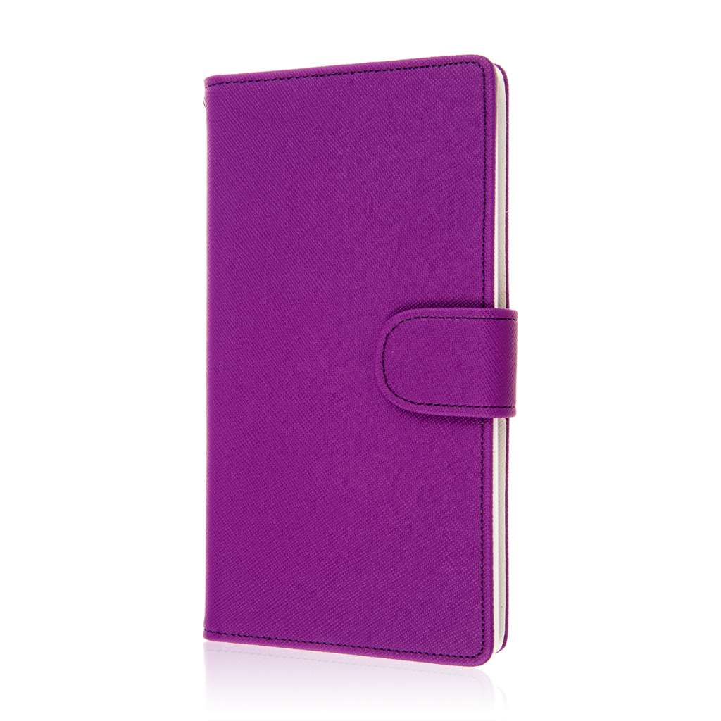 ZTE Grand X Max - Purple MPERO FLEX FLIP Wallet Case Cover
