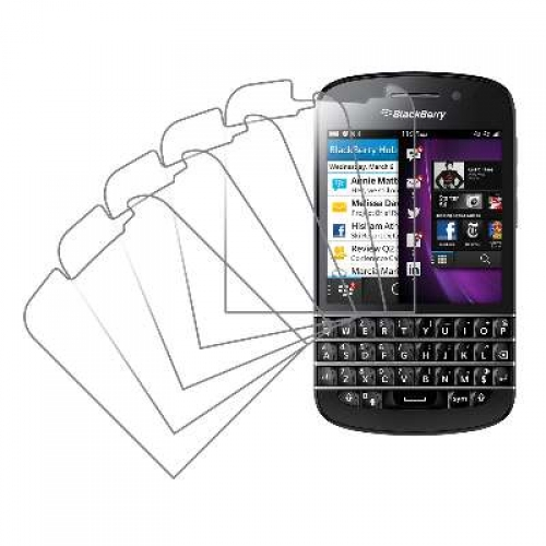 Blackberry Q10 MPERO 5 Pack of Clear Screen Protectors