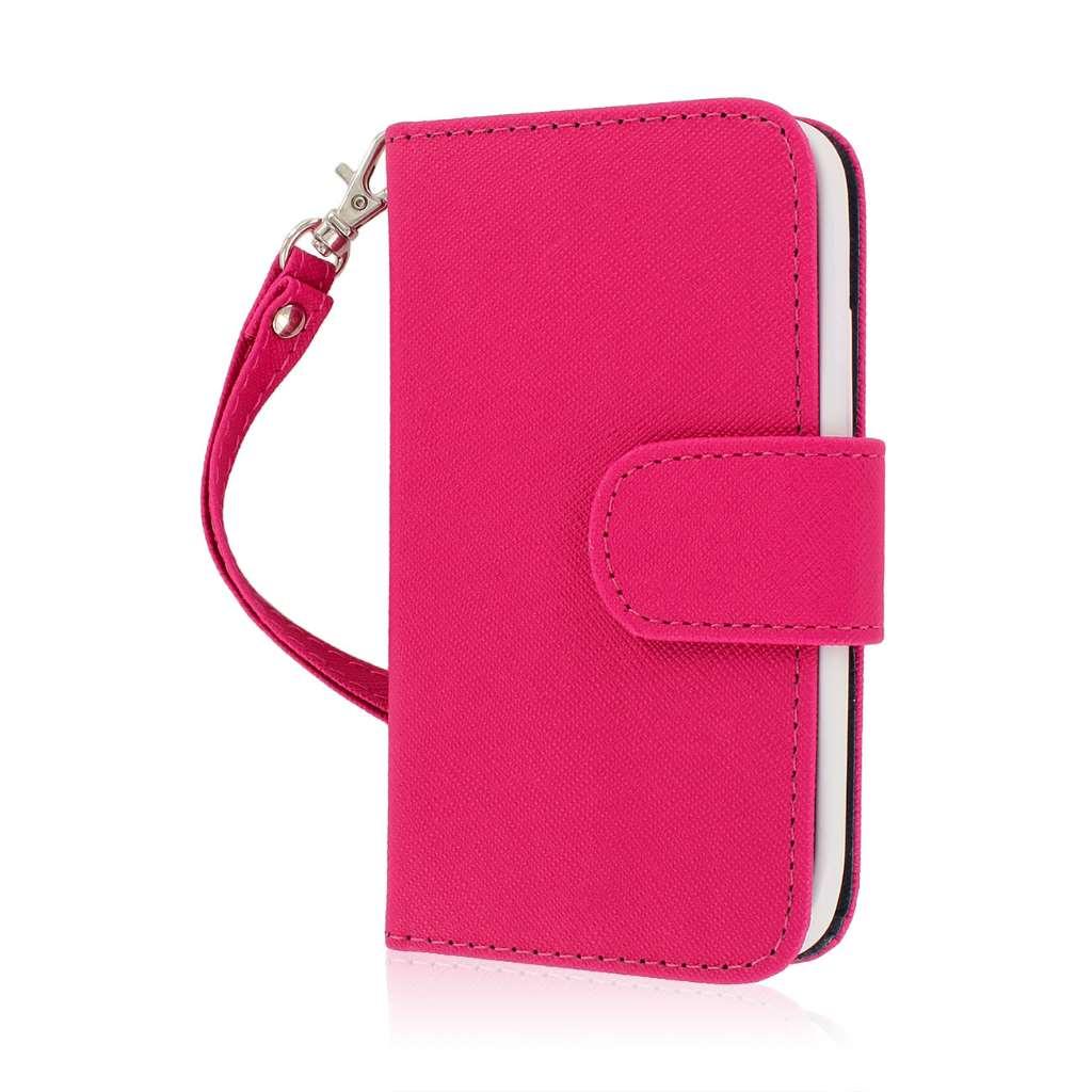 Huawei Vitria - Hot Pink MPERO FLEX FLIP Wallet Case Cover