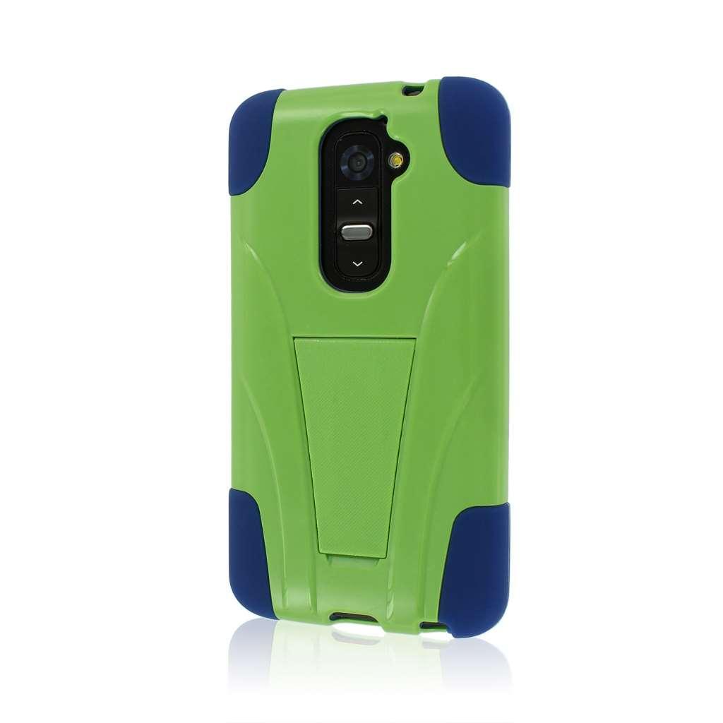 LG G2 - Blue / Green MPERO IMPACT X - Kickstand Case Cover