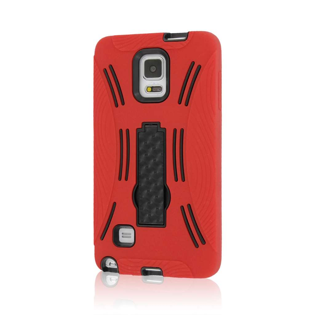 Samsung Galaxy Note 4 - Red MPERO IMPACT XL - Kickstand Case Cover