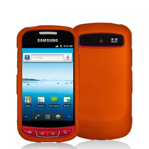 Samsung Admire R720 Orange Hard Rubberized Case Cover