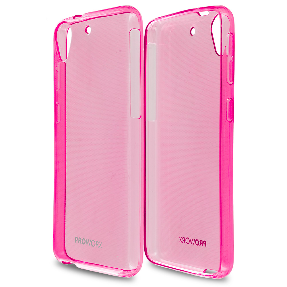 HTC Desire 626 / 626s Hot Pink ProWorx Ultra Slim Thin Scratch Resistant TPU Silicone Case Cover