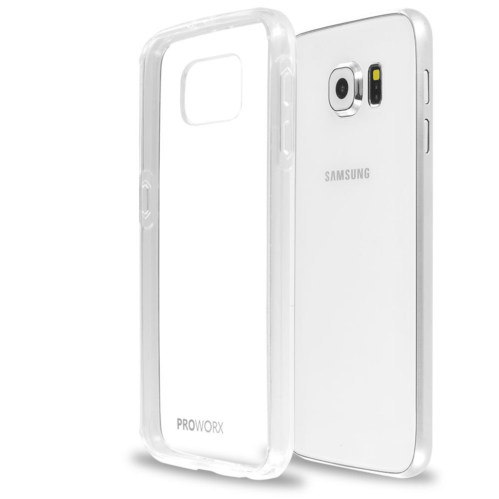 Samsung Galaxy S6 Clear ProWorx Shock Absorption Case Bumper TPU & Anti-Scratch Clear Back Cover