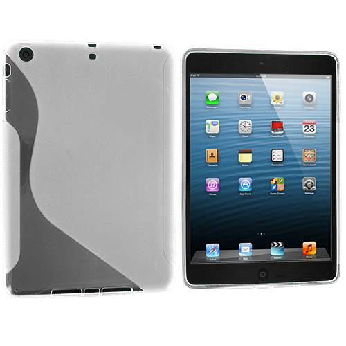 Apple iPad Mini Clear S-Line TPU Rubber Skin Case Cover