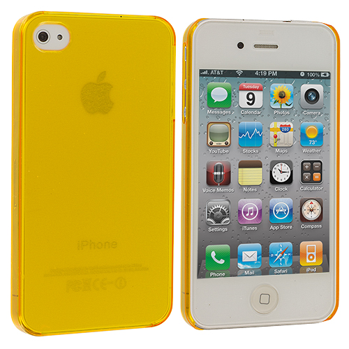 Apple iPhone 4 / 4S Yellow 0.3mm Crystal Hard Back Cover Case