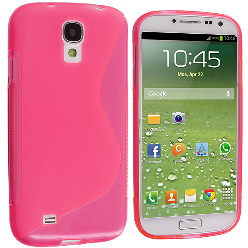 Samsung Galaxy S4 Light Pink S-Line TPU Rubber Skin Case Cover