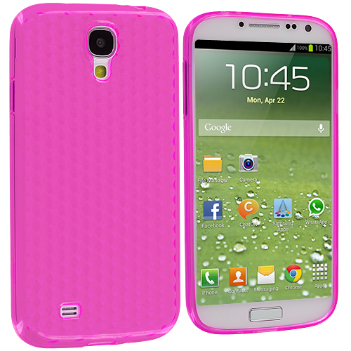 Samsung Galaxy S4 Pink Diamond TPU Rubber Skin Case Cover