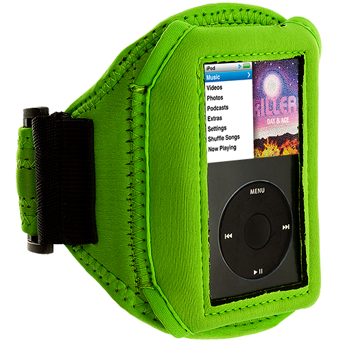 Apple iPod Classic Neon Green Running Sports Gym Armband