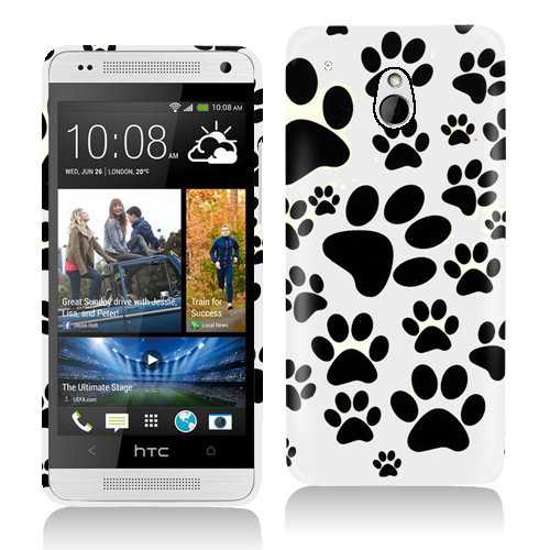 HTC One Mini Dog Paw Hard Rubberized Design Case Cover