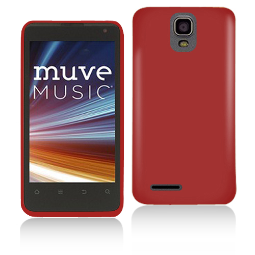 ZTE Engage LT N8000 Red Hard Rubberized Case Cover