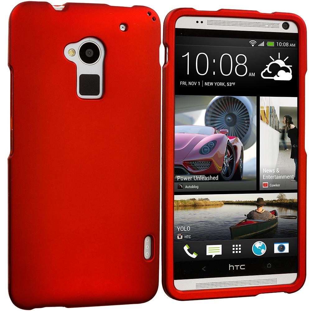 HTC One Max Orange Hard Rubberized Case Cover