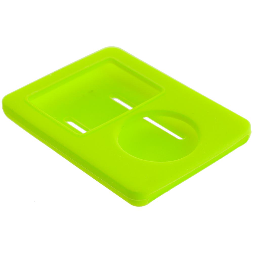 Apple iPod Nano 3rd Generation Neon Green Silicone Soft Skin Case Cover