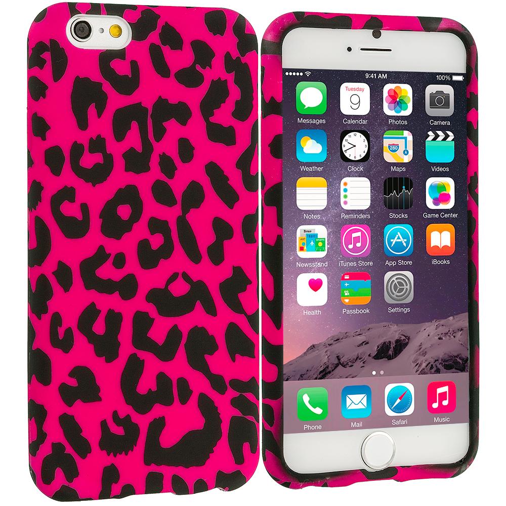Apple iPhone 6 6S (4.7) Hot Pink Leopard TPU Design Soft Case Cover
