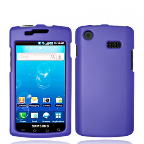 Samsung Captivate i897 Purple Hard Rubberized Case Cover
