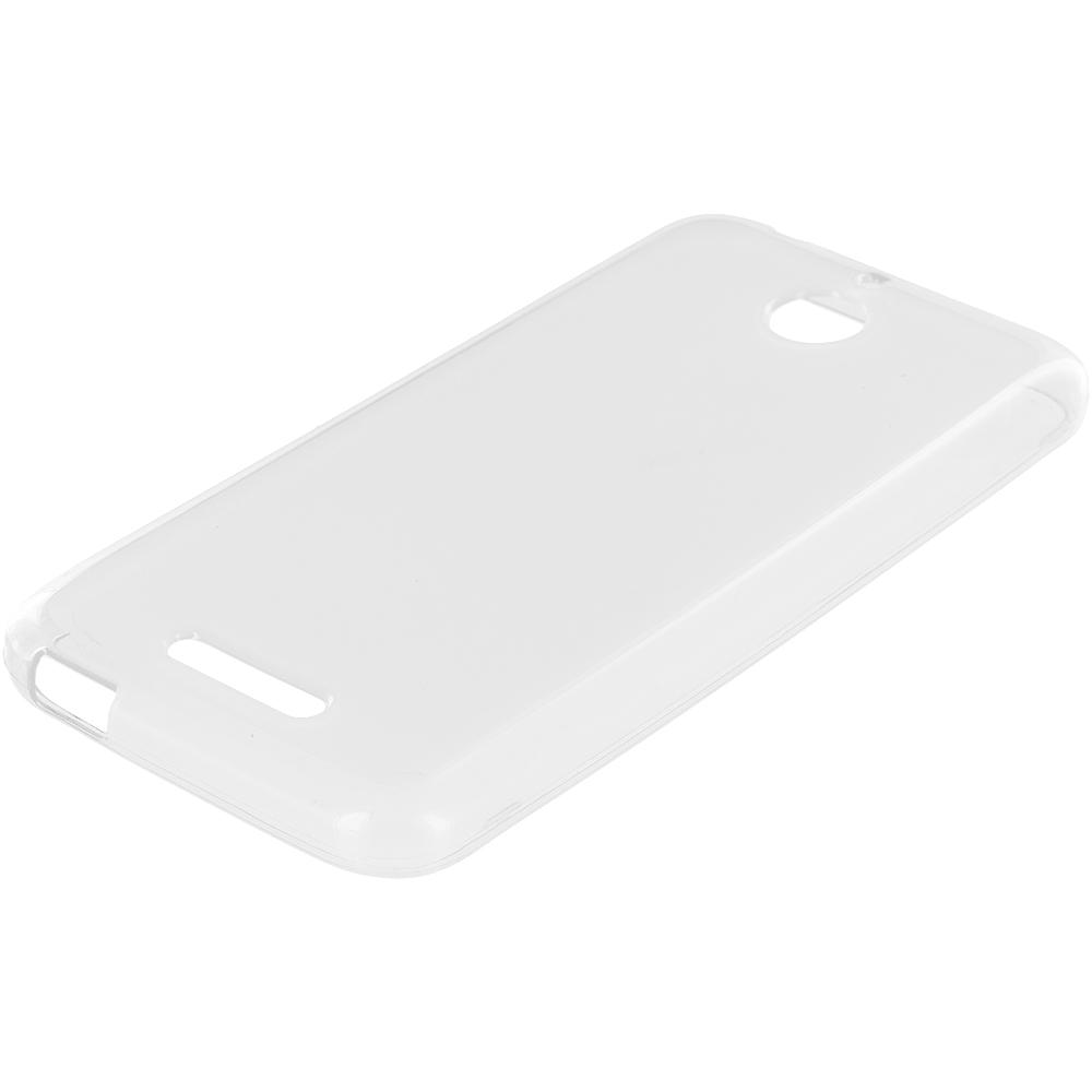 HTC Desire 510 Clear TPU Rubber Skin Case Cover