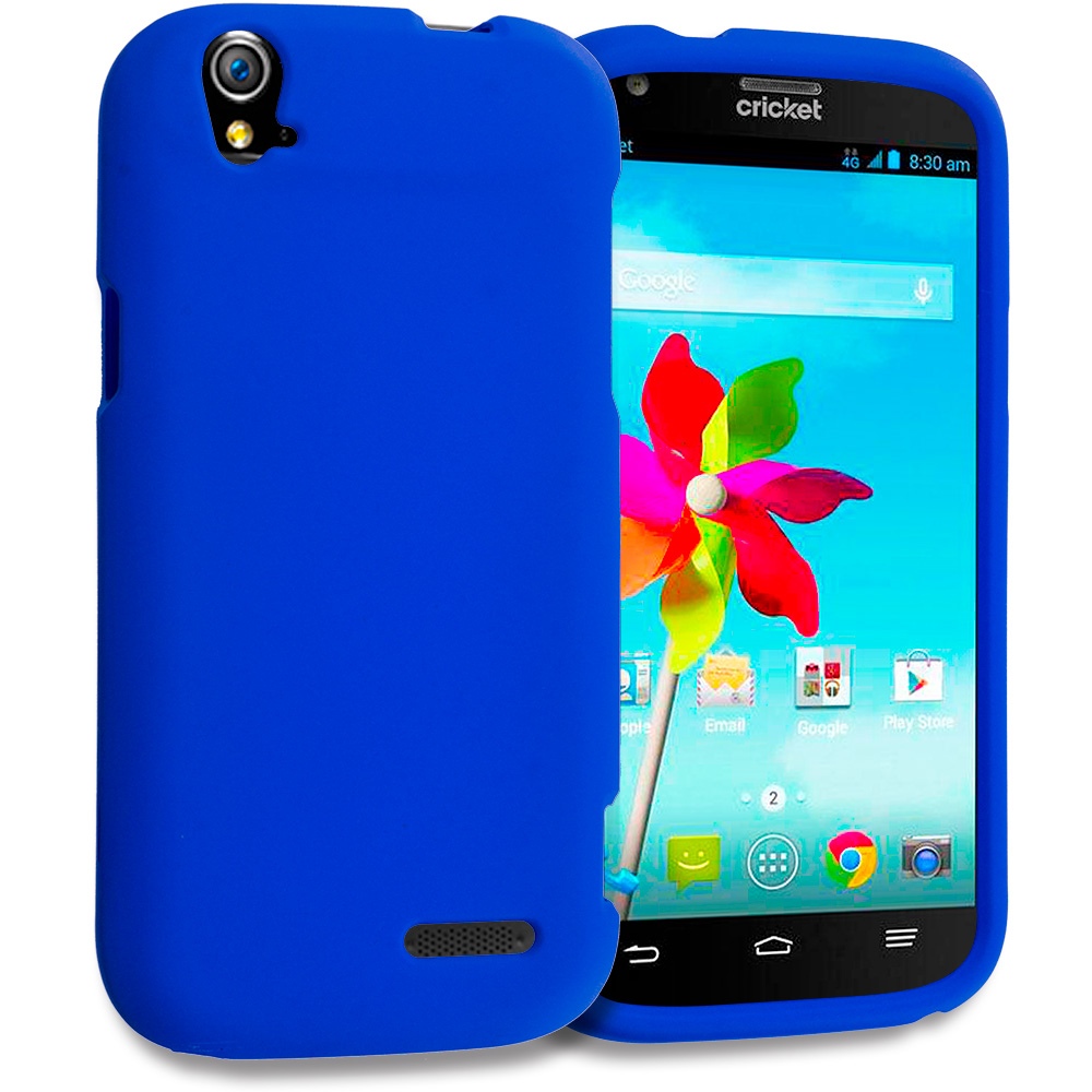 ZTE Grand X Z777 Blue Hard Rubberized Case Cover