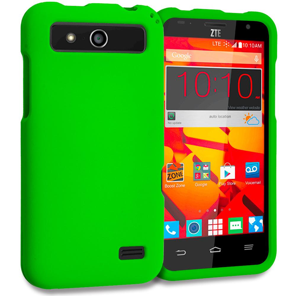 ZTE Speed N9130 Neon Green Hard Rubberized Case Cover
