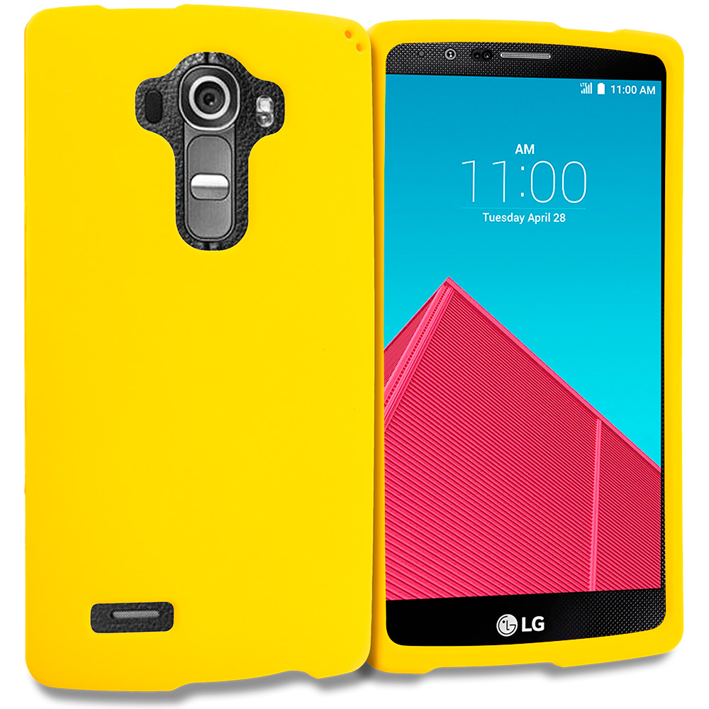 LG G4 Yellow Hard Rubberized Case Cover