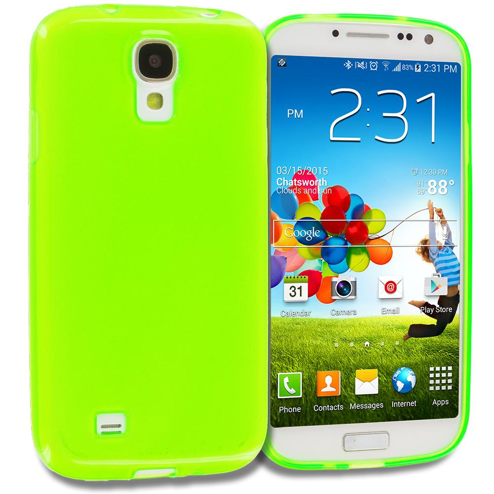 Samsung Galaxy S4 Green TPU Rubber Skin Case Cover