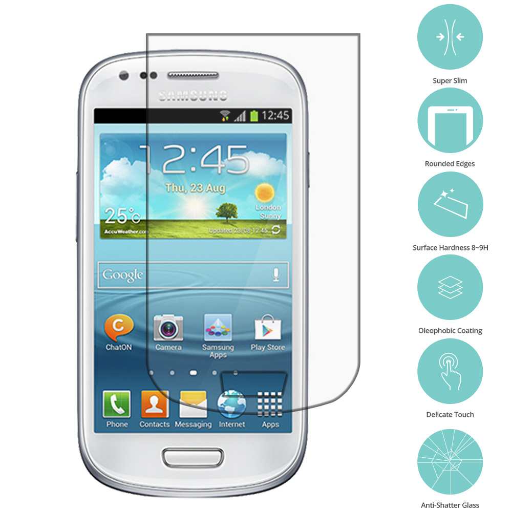 Samsung Galaxy S3 Mini Clear Tempered Glass Film Screen Protector Clear