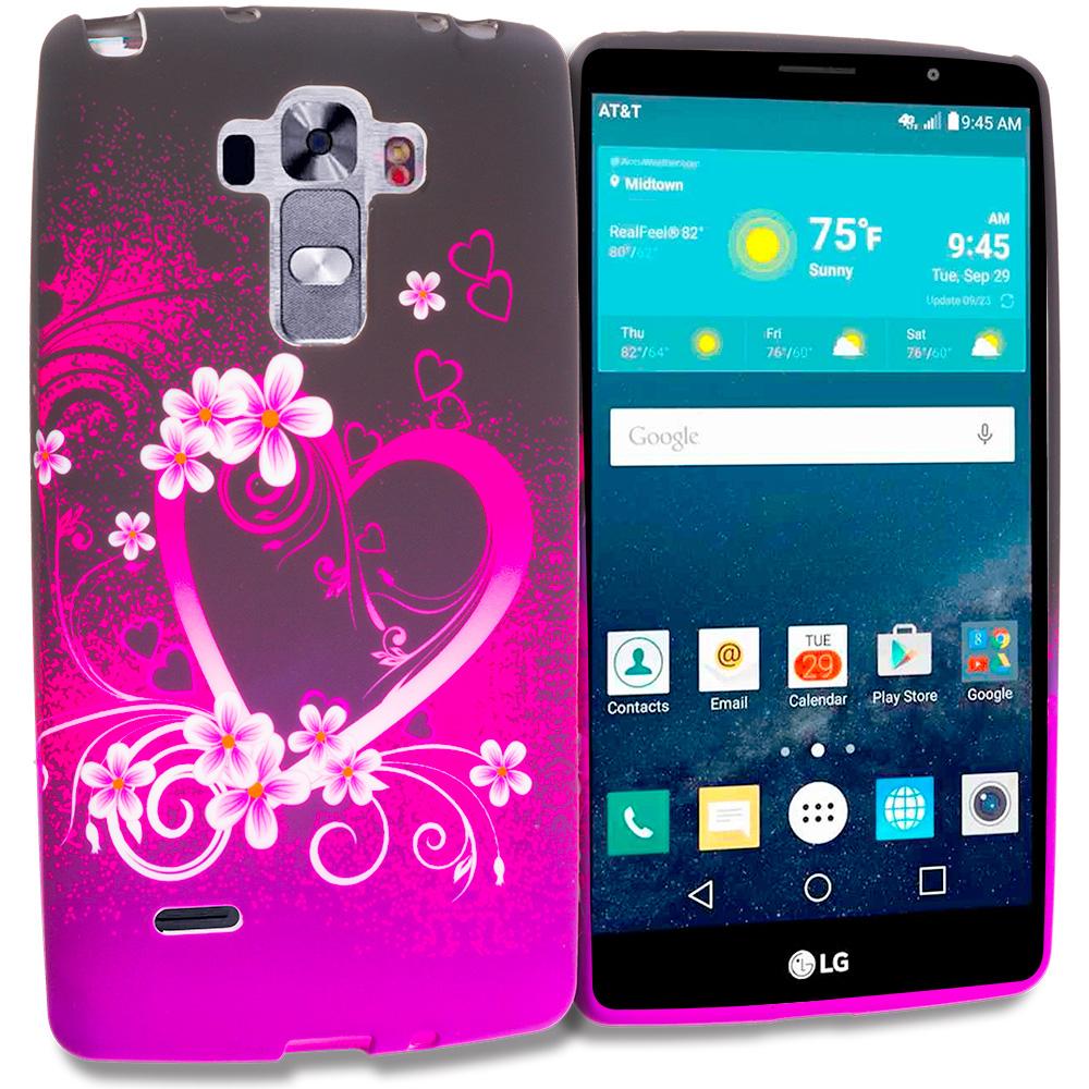 LG G Vista 2 Purple Love TPU Design Soft Rubber Case Cover