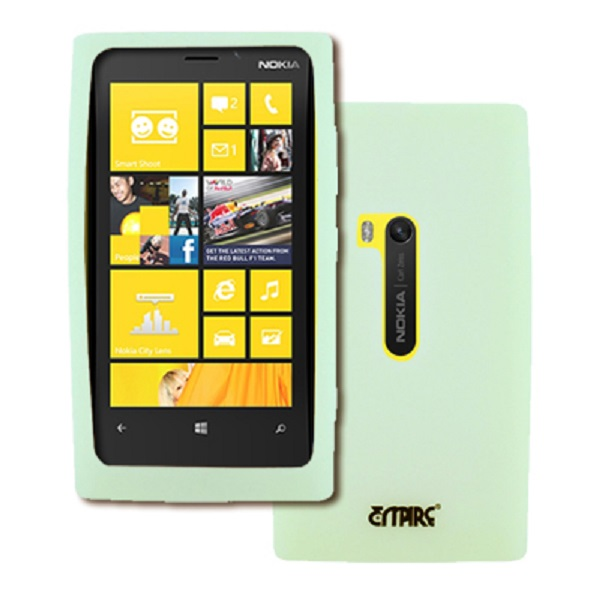 Nokia Lumia 920 MPERO Flexible Silicone Skin Glow In The Dark Green Case