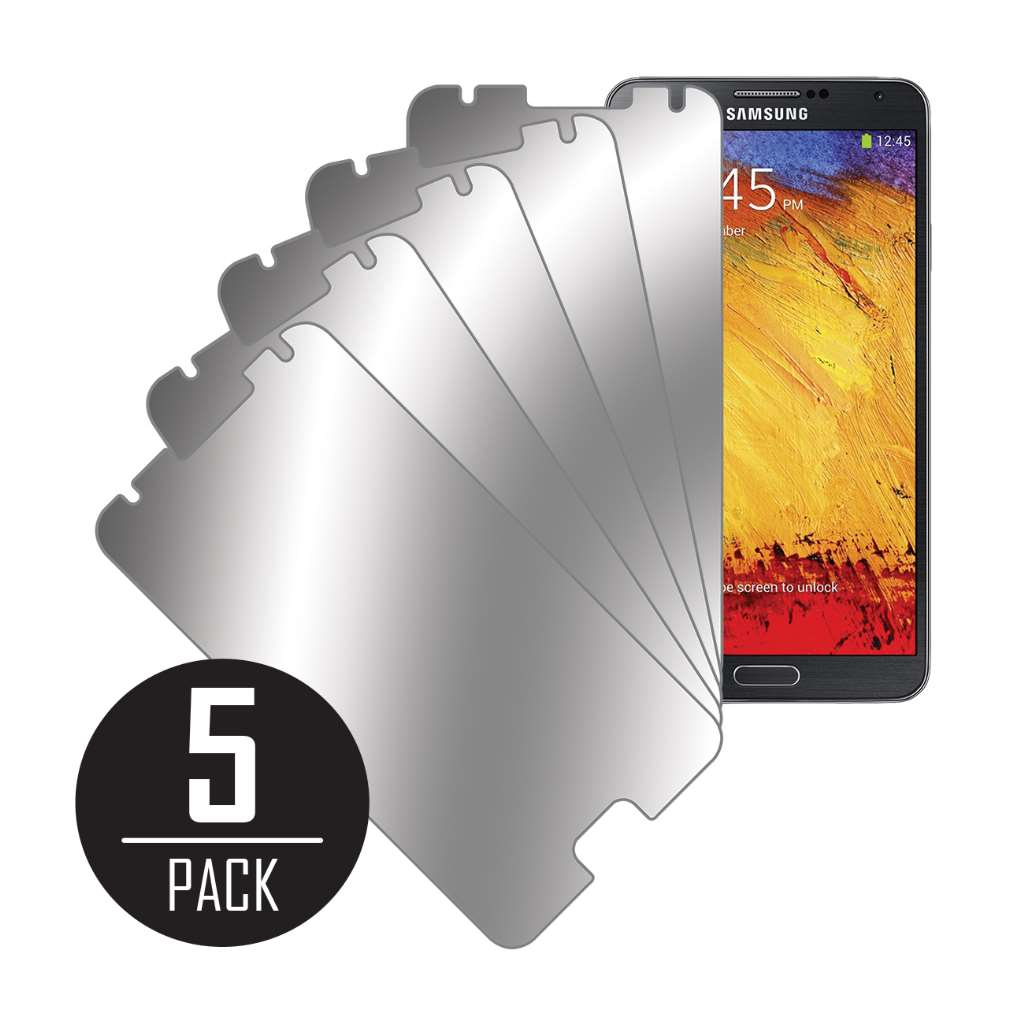 Samsung Galaxy Note 3 MPERO 5 Pack of Mirror Screen Protectors