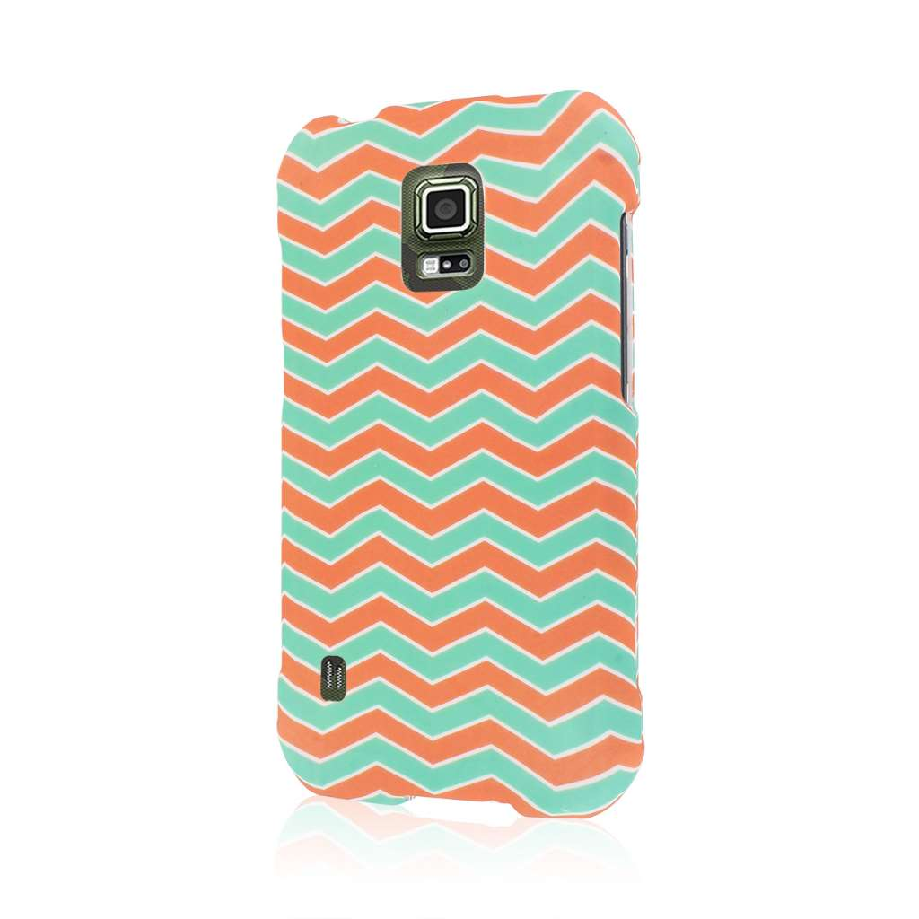 Samsung Galaxy S5 Active - Mint Chevron MPERO SNAPZ - Case Cover